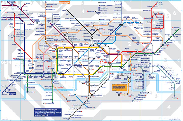London Tube Map Dlr  London Map